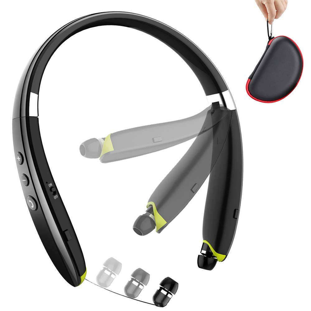 Bluetooth Headphones BEARTWO Retractable Cancelling
