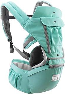 Festnight Baby Carrier with Hip Seat Breathable & Detachable Design Adjustable Strap Side Pockets Multifunctional Ergonomi...