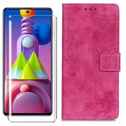 HYMY Hülle für Nokia 2.2 + Schutzfolie - Rose Retro-Stil PU Leder Lederhülle Flip Schutzhülle Card Slot mit Brieftasche Handyhülle Hülle für Nokia 2.2 2019 (5.71