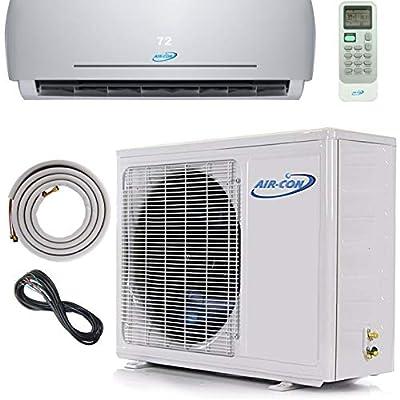 Air Con Mini Split Air Conditioner AC Heat Pump Ductless 18000 BTU 23 SEER 25' Lineset & Wiring