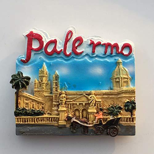 Palermo Itlay Imán de Nevera 3D Resina de la Ciudad de Viaje Recuerdo Colección de Regalo Fuerte Etiqueta Engomada refrigerador