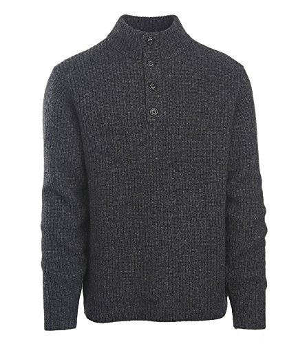 Woolrich Men's The Sweater, Charcoal Heather, Extra Large