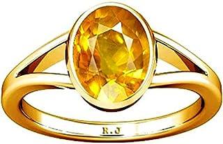 Divya Shakti 6.25-6.50 Carat Yellow Sapphire Ring (Pukhraj Stone Panchadhatu Ring) 100% Original AAA Quality Gemstone (8)