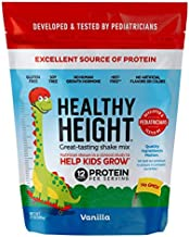 Healthy Height Kids Protein Powder (Vanilla) - Developed by Pediatricians - High in Protein Nutritional Shake to Supplement Child Growth - Contains Key Vitamins & Minerals to Gain Height & Weight