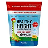 Healthy Height Kids Protein Powder (Vanilla) - Developed by Pediatricians - High in Protein...