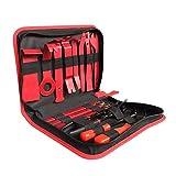 VISLONE 19Pcs Kit di strumenti per la rimozione delle rifiniture Auto Car Audio Radio Pannello porta Pinze Clip di fissaggio Dispositivo di riparazione a leva Strumento manuale