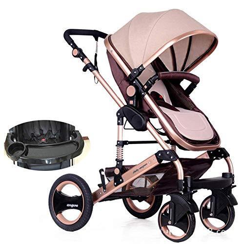 MNBV Cochecito 2 en 1 Cochecito Buggy Baby Jogger Travel Buggy Cochecito para niños, Caqui