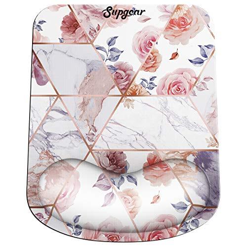 Supgear Ergonomische Mauspad Gel Handgelenkauflage Maus Handballenauflage Anti-Sehnenscheidenprobleme für Computer und Laptop (Rose)