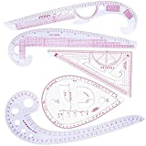 Regla de Costura, NALCY 5 Piezas Sewing Rulers Set, Regla Métrica Francesa, Ropa Conjunto de Reglas de Moda, Regla de Corte Jaula de Manga, para Coser Herramienta de Corte y Confección