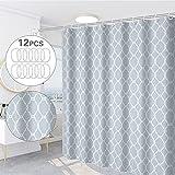 TTBAODAN Duschvorhang Anti-Schimmel Wasserdicht, Duschvorhänge 180x200cm, Badewanne Vorhang Antibakteriell mit 12 Duschvorhängeringen für Badewanne & Bathroom