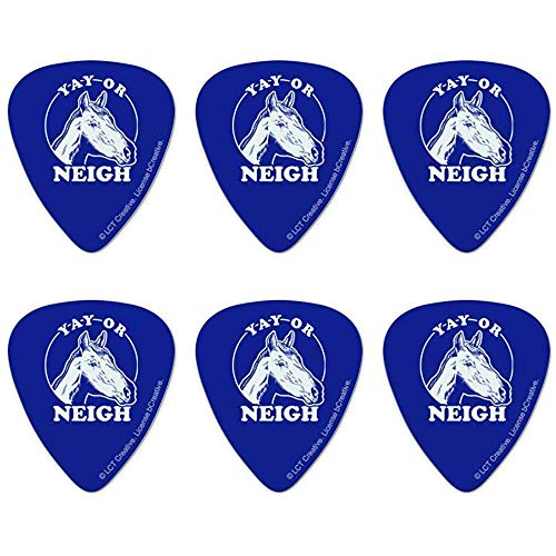 Yay Of Neigh Nay Paard Grappige Humor Novelty Gitaar Picks Medium Gauge - Set van 6