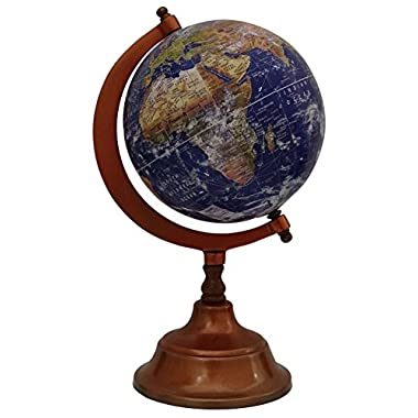 Rotating World Globe Large Decorative Geography Ocean Earth Home Decor 12 Inches