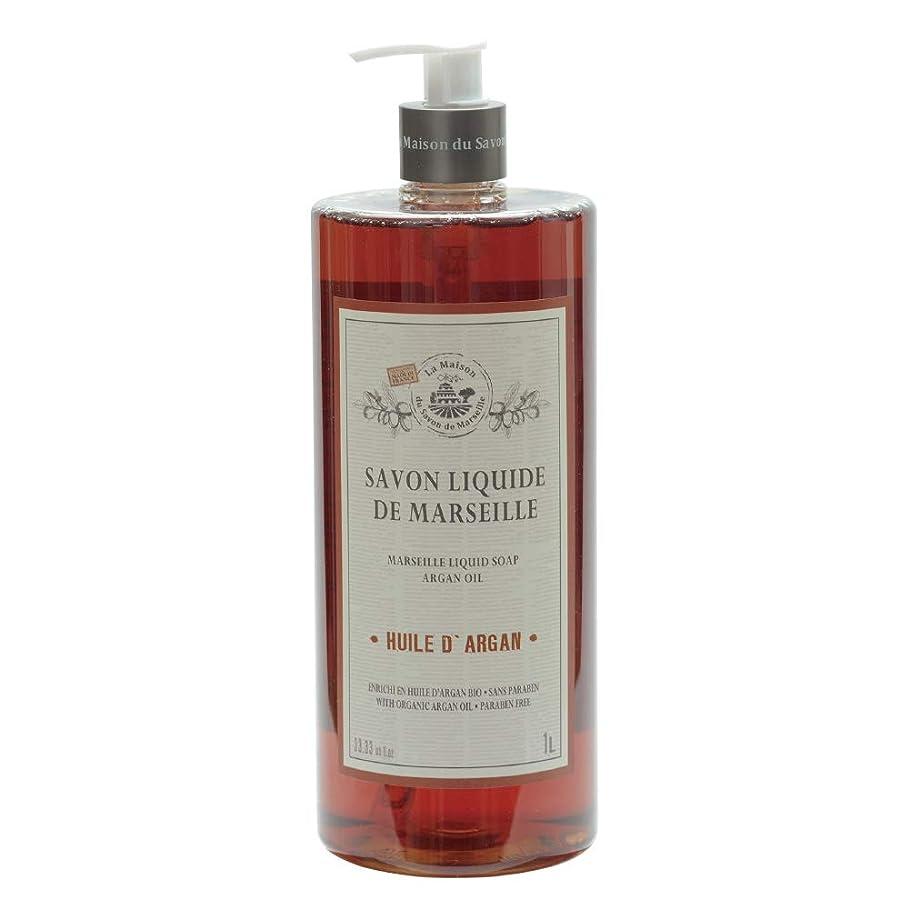 ドレス増強するオンノルコーポレーション マルセイユ石鹸 リキッドソープ 1L アルガンオイルの香り MLL-2-5