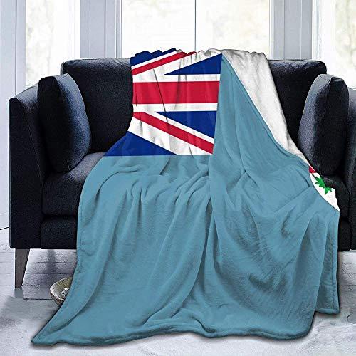 VAADIOSII Super warme, Bequeme & weiche Flanelldecke für alle Jahreszeiten,Fidschi-Flagge weich & bequem für ultraweiche & Flauschige 50 * 60