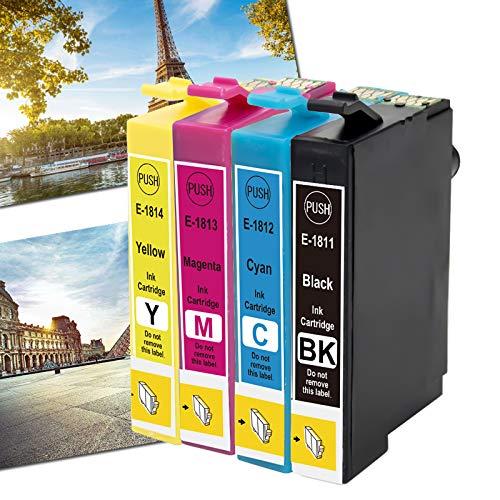 Karl Aiken 18XL - Cartucho de tinta compatible con Epson Expression Home XP-202 XP-205 XP-215 XP-225 XP-305 XP-315 XP-322 XP-325 XP-405 XP-415 XP-425 (1SET)