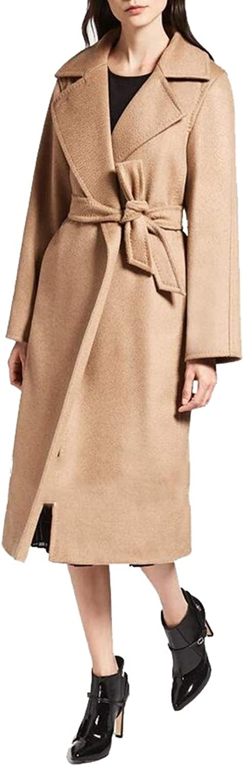Gocgt Women's Fashion Slim Fit Plus Size Trench Coat Long Overcoat with Belt