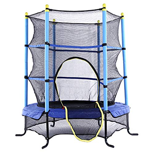 5FT Elastic Trampoline for Kids, Outdoor Indoor Fitness Bouncer with Safety Enclosure Net for Play And Exercise Jumping Trampoline for Kids And Adult