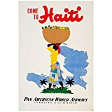 PAN AM – Vintage Haiti Advert Wall Poster Print - 43.2 x