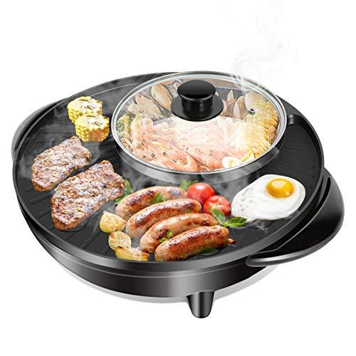 Grill e Hot Pot Doppia pentola integrata per barbecue e hot pot a doppia casseruola integrata