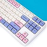 139 Keys Set XDA Profile Custom Keycaps PBT Dye Sublimation ANSI Layout Keycaps Set for Gateron Kailh Cherry MX Switches Mechanical Gaming Keyboards (Bubble)