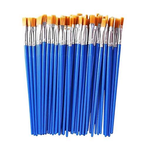 Paint Brushes Set 60 Pcs Nylon Flat Hair for Acrylic Oil Watercolor Art Painting,Art Paintbrushes for Children