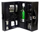 La Corsa Leather 9pcs Bar Accessory Set (Black)
