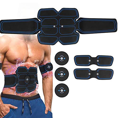 Estimulador muscular eléctrico, estimulador muscular abdominal EMS, entrenamiento físico músculos masaje pegatina...