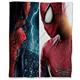 ARYAGO Plaid décoratif ultra peluche 100 x 130 cm Spiderman en flanelle pour canapé, lit, film Spider Man Avengers