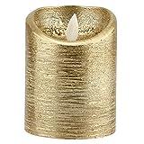 Wifehelper Velas de Llama sin Llama Velas de Oro con Pilas Llama oscilante Luces de Velas eléctricas Suministros para Banquetes de Boda(1#)