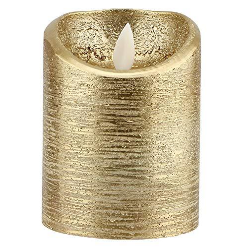 Kandelaar, geleid vlamloze kaarsen-batterij-goud, de vlam elektrische kaars trilt, verlicht bruiloften. M(7.5x12.5cm)