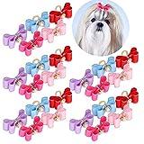 Sombreros -25 unids/Lote Lindo Lazo para Perros Lazos de Aseo Adorable Bowknot con Bandas de Goma para Mascotas