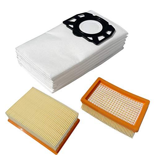 Remplacement 2x Filtre et 6x Sacs pour Karcher WD4 Premium WD5 P WD6 P MV4 MV6 2.863-005.0 2.863-006.0 sachet Accessoires