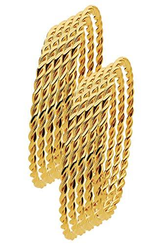 Ablamshop/ikili Burma Bilezik 24 K Gold Plated Kuyumcu Gold Gp 24 Ayar Altin Kaplama 0.5 cm 5 x 6.6 cm (5)