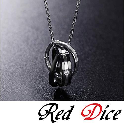 『[レッドダイス] メンズネックレス ネックレス ペンダント 人気 男性用 チェーン チェーンネックレス シルバーネックレス 大きめリング 銀』の2枚目の画像