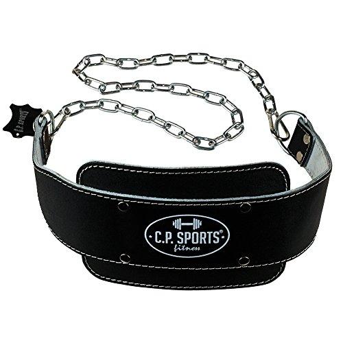 C.P. Sports 38756 - Cinturón de Entrenamiento con Cadena (Talla única, 82 cm), Color Negro