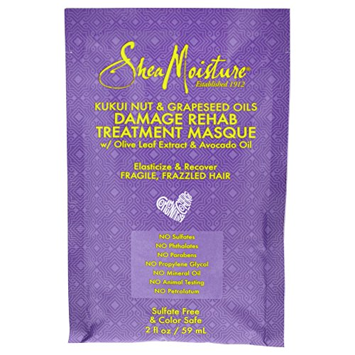 Shea Moisture Kukui nut & grapeseed oils damage rehab treatment masque by shea moisture for unisex masque, 2 Ounce