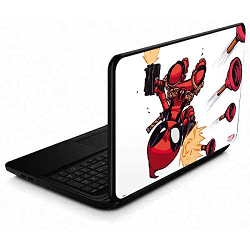 Skinit Decal Laptop Skin for 15.6 in 15-d038dx - Officially Licensed Marvel/Disney Deadpool Baby Fire Design