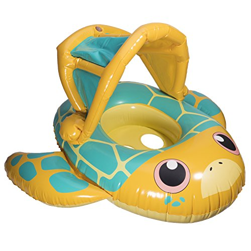 SwimWays Sun Canopy Baby Boat - Turtle