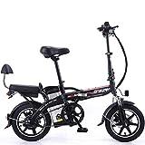 GJJSZ Vélo électrique de Puissance 350W 48V 10Ah,lumière de vélo LED,3 Modes de Conduite
