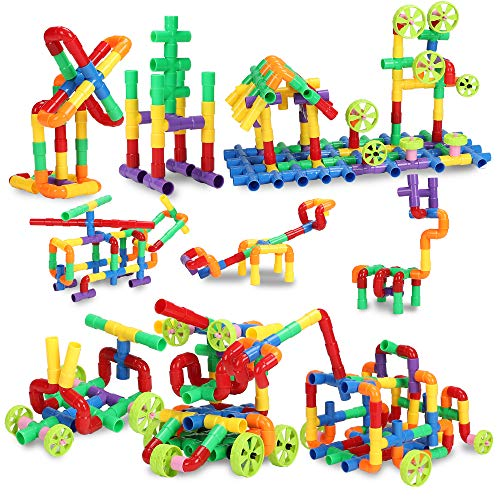 STEM Building Blocks Toy for Kids, Educational Toddlers Toddler Toy Kit, Constructions Toys for 3 4...