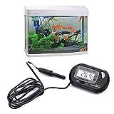 Caxmtu Termómetro digital con pantalla LCD para acuario, resistente al agua, para reptiles