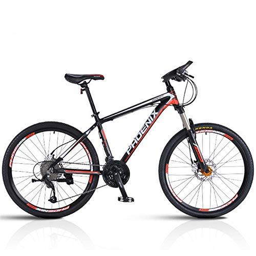 JHKGY Mountainbike,27 Speed Mountainbike Für Erwachsene Und Jugendliche,Vollgefederte Scheibenbremse Outdoor-Bikes,Für Männer Frauen,Schwarz