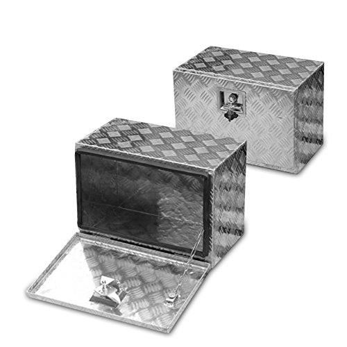FT-Germany 35l Alu Unterbaubox für PKW Anhänger oder LKW Nutzfahrzeuge, Staubox, Werkzeugkiste, Gurtkiste, Alukiste, Kiste