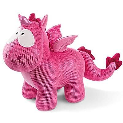 NICI- Peluche Unicornio-dragón Ruby de la Rosa 45cm (45699)