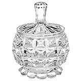 Azucarero de cristal diamante–H. 11cm–transparente