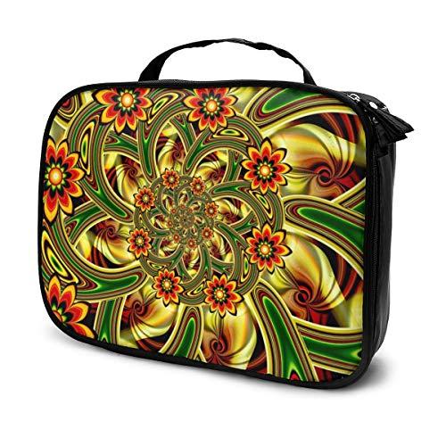 Regenbogen Bunte Blumen-Krawatten-Farbstoff 7,5'x 9,8' Zoll Zugkoffer für Frauen Kosmetikkoffer Aufbewahrungsorganisator