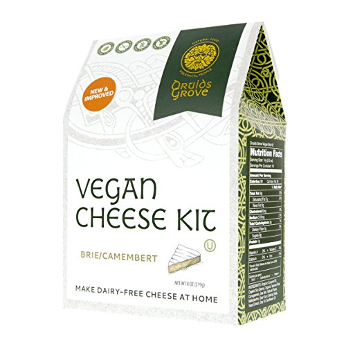 Druids Grove Vegan Brie Kit (Nondairy Cheese) ? Vegan ? Non-GMO ? Gluten-Free ? OU Kosher Certified