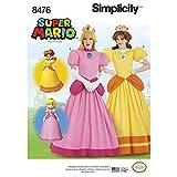 Simplicity Sewing Pattern D0799 / 8476 - Misses' Super Mario Princesses Costumes, H5(6-8-10-12-14)