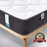 Inofia Mattress,Breathable Fabric Mattress with Pocket Springs,7-Zone Support System,8.7 Inch Depth (100 Night Test at NO Risk) (4FT6(135x190x22cm))