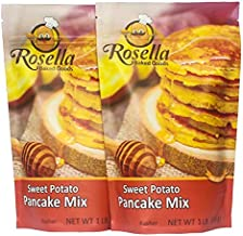 Gourmet Sweet Potato Pancake & Waffle Mix By Rosella Baked Goods: Delicious & Nutritious Vegan Breakfast & Brunch Recipe With Healthy, Quality Ingredients, Fiber & Vitamins, 2-Pack